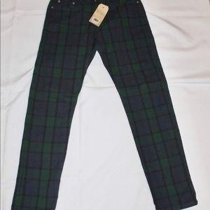 Levi's 502 Plaid Jeans 28 x 32